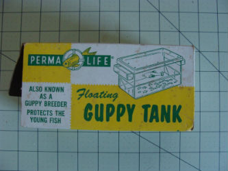 Vintage Perma Life Floating Guppy Tank